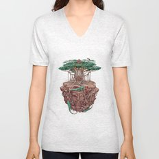 tree land Unisex V-Neck