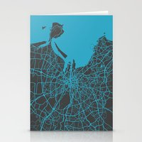 dublin Stationery Cards featuring Dublin Map by Map Map Maps