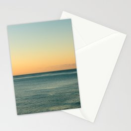 Sunrise and serene ocean Stationery Cards
