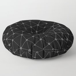 African Triangle Black Floor Pillow