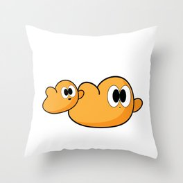Flying Bubbels Throw Pillow