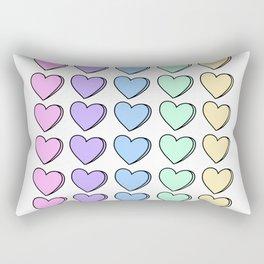 Candy Hearts Rectangular Pillow