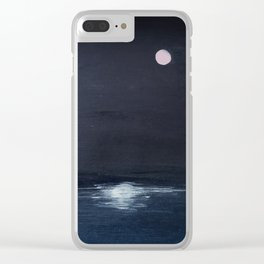 Reflection / Moon And The Sea Clear iPhone Case