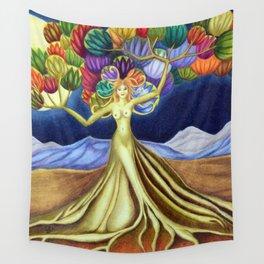 Grace in Full Bloom Wall Tapestry
