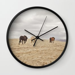 Travel Landscape Photograph, Iceland Wall Clock