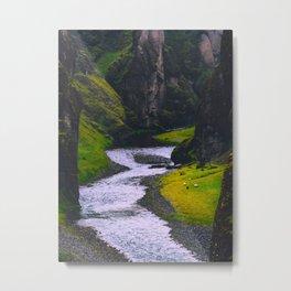 SCANDINAVIAN landscape Secret Green Canyon River Metal Print