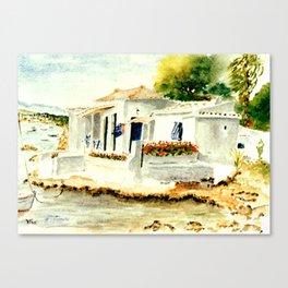 White House on the Beach Canvas Print
