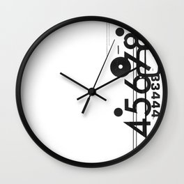 Letraset Collage 1 Wall Clock