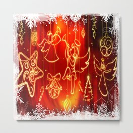 CHRISTMAS WIDESCREEN DECORATION Metal Print
