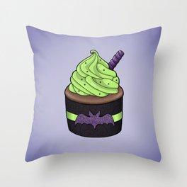 Batty Cupcake Throw Pillow