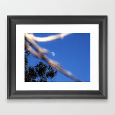 Moon on a Stick Framed Art Print