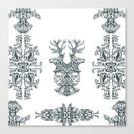 Twin Deer Dancer Canvas Print