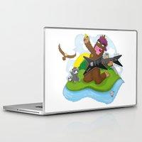 bigfoot Laptop & iPad Skins featuring Bigfoot Rocks! by Peteman