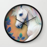 unicorn Wall Clocks featuring Unicorn by ShannonPosedenti