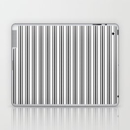 Large French Black and White Mattress Ticking Double Stripes Laptop & iPad Skin