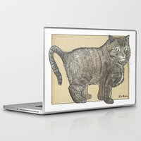 furry Laptop & iPad Skins featuring Furry Cat by Felis Simha