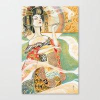 klimt Canvas Prints featuring Klimt Oiran by Sara Richard