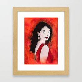 Companion in Red Framed Art Print