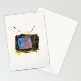 Yellow TV Stationery Cards