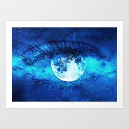 Moon Eye Art Print