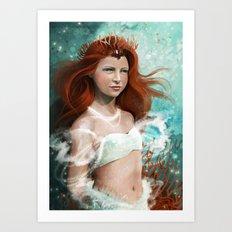 Daughter of the sea Art Print