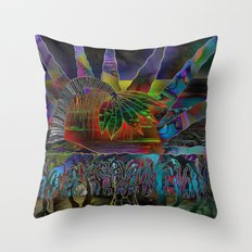 Doodlage 06 - Tropical Sundown Throw Pillow