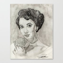 Beauty and The Petal Canvas Print