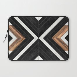Urban Tribal Pattern No.1 - Concrete and Wood Laptop Sleeve