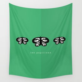 Les Papillons (Green) Wall Tapestry