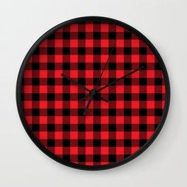 Kpop Plaid Wall Clock
