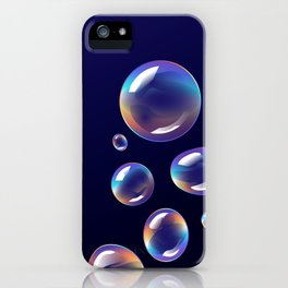 Holographic Bubbles iPhone Case