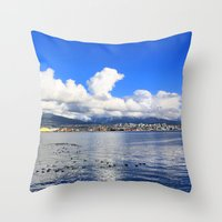 vancouver Throw Pillows featuring North Vancouver by Chris Root