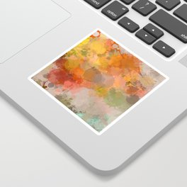 Modern contemporary Yellow Orange Abstract Sticker