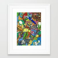 planes Framed Art Prints featuring Planes by Dr. Freakinstyle