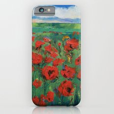 Field of Red Poppies iPhone 6s Slim Case