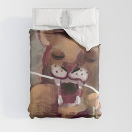lion flossing Comforters