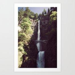 Multnomah Falls Waterfall - Nature Photography Art Print