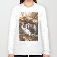 mineral Long Sleeve T-shirts featuring Mineral Springs Falls by Mel O'Donohue
