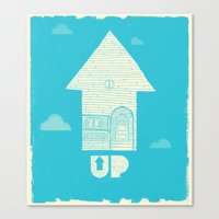 movie poster Canvas Prints featuring UP - Movie Poster by Joel Amat Güell