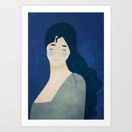 My tears are blue Art Print