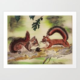 """""""I'm Nuts For You"""" Art Print"""
