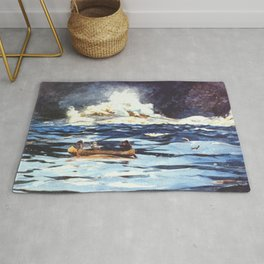 Under The Falls The Grand Discharge 1895 By WinslowHomer | Reproduction Rug