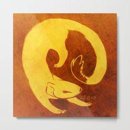 Mongoose Cutout Metal Print