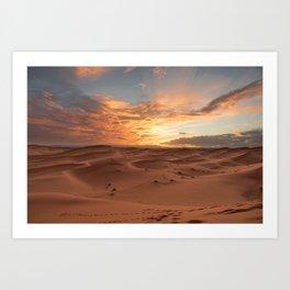 Desert Sunset I - Sahara, Morocco Art Print