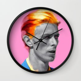pinky bowie Wall Clock