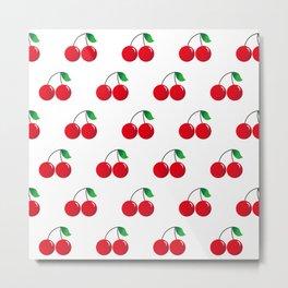 Cherry Pattern_b01 Metal Print