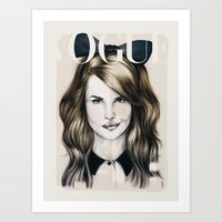 minnie Art Prints featuring Minnie by Seventy Two Studio