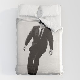 Work can wait when it's time to skate. Duvet Cover