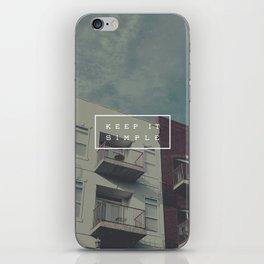 Keep It Simple iPhone Skin