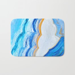 Blue and gold agate Bath Mat
